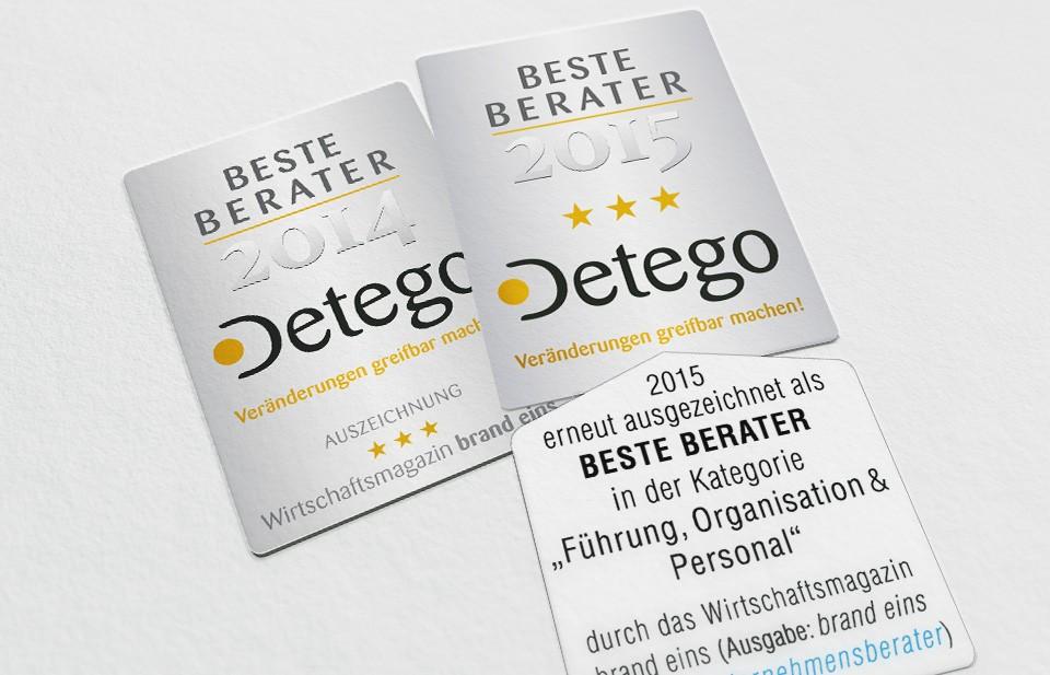 Detego | Beste Berater 2014 und 2015